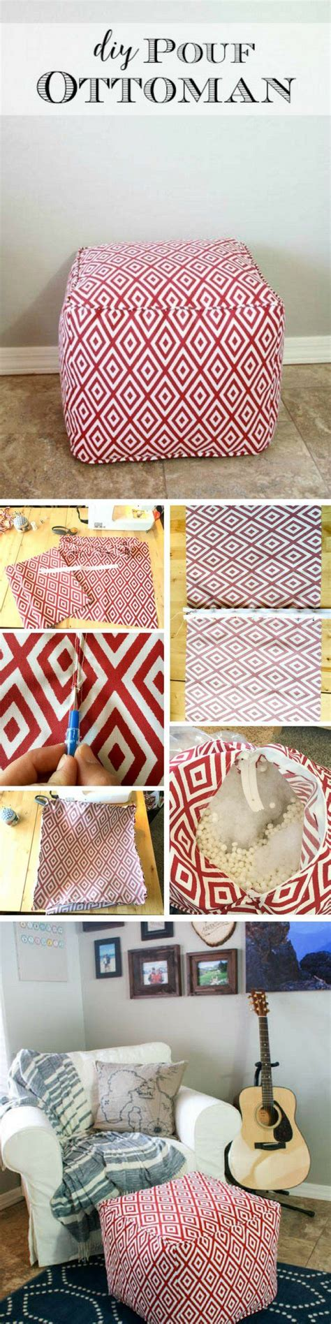 how to make pouf ottoman best 25 diy ottoman ideas on pinterest diy storage pouf