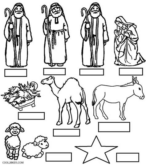 printable nativity scene characters nativity angels coloring pages