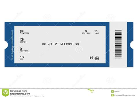 ticket template free 8 best images of football ticket templates blank printable