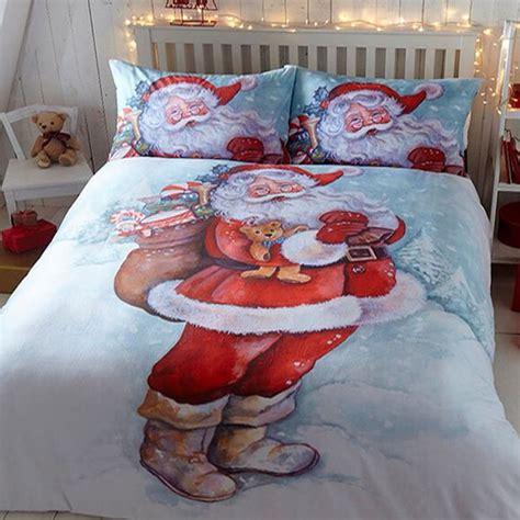 king size christmas bedding jolly santa father christmas super king size bedding set
