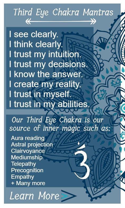 eye chakra  psychic chakra chakra mantra