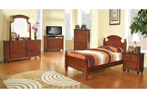 Size Bedroom Sets by Bedroom Sets Freemont Cherry Size Bedroom Set
