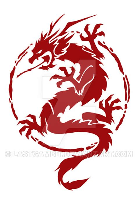 chinese pattern logo chinese dragon logo by lastgambit on deviantart