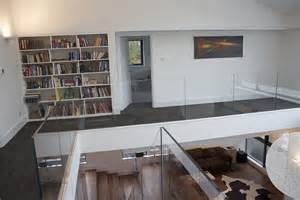 mezzanine library transform architects house extension