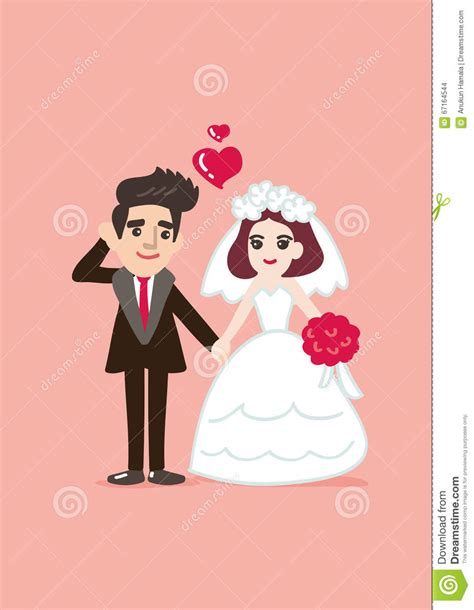 Kartun Wedding by Wedding Card With Groom And Illustration