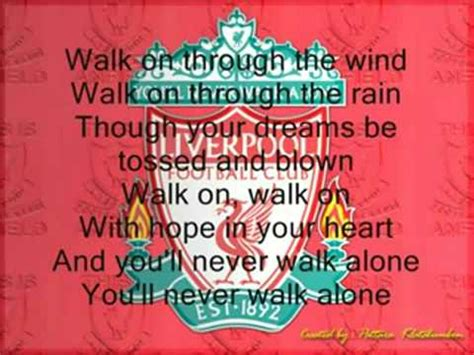you ll never walk alone testo you ll never walk alone liverpool with lyrics
