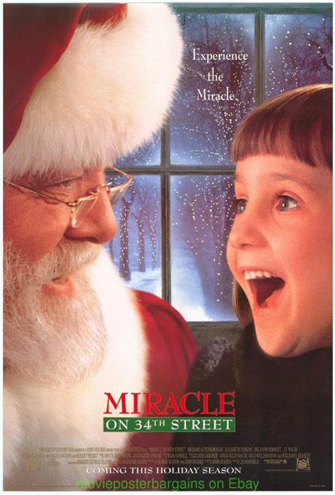 miracle on 34th street 1994 miracle on 34th street movie poster ds 27x40 original 1994