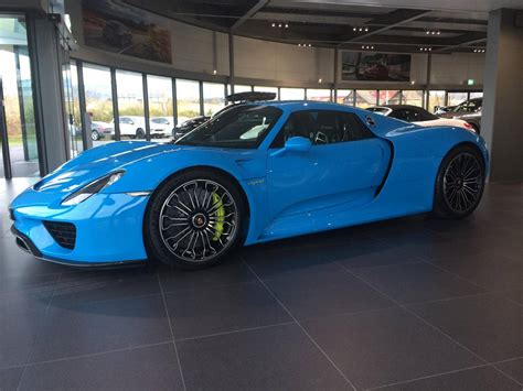 porsche 918 spyder blue incredible looking baby blue porsche 918 spyder gtspirit