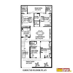 Plot Plan Drawing Software House Plan For 30 Feet By 60 Feet Plot Plot Size 200