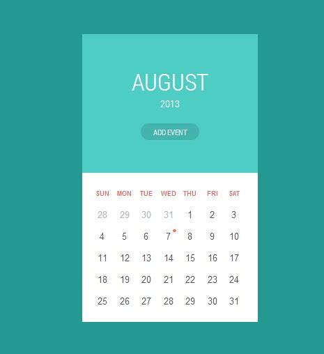 Ccs Calendar 40 Best Free Calendar Templates Psd Css3 Wallpapers