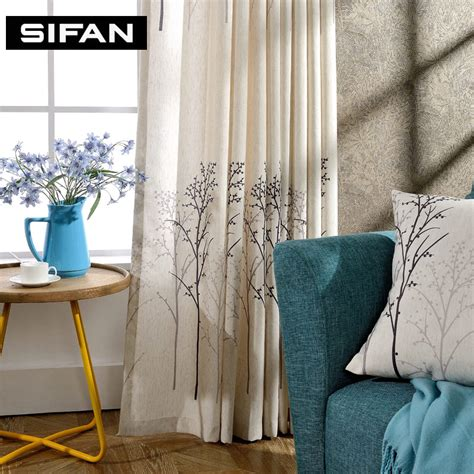 printed curtains living room tree design linen printed curtains for living room decorative modern curtains for the bedroom