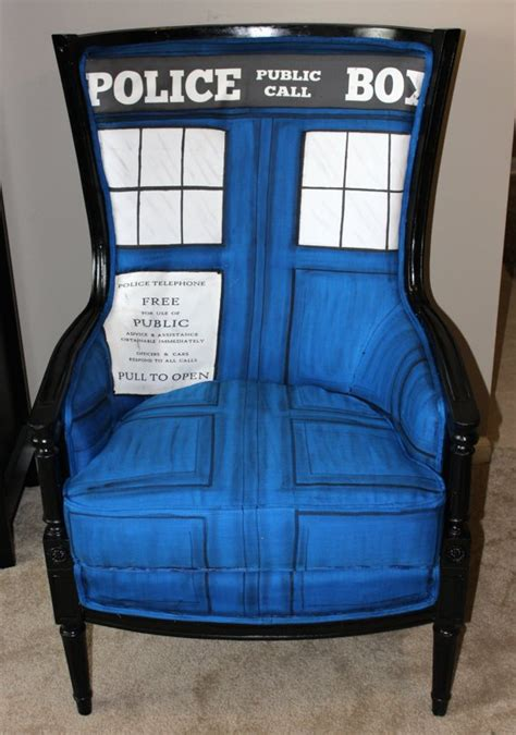tardis couch dr who tardis chair a whimsical berg 232 re regency chair