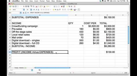 even point template using a spreadsheet to adjust a budget and find the