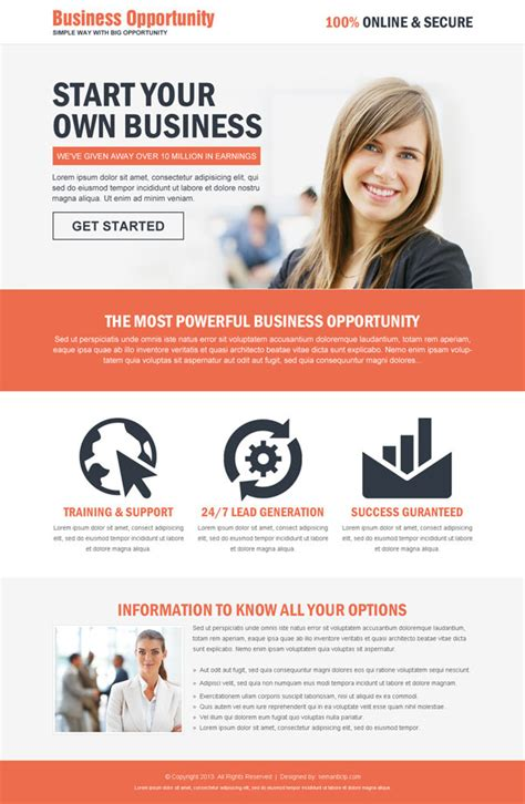 Best Landing Page Design For Successful Business Conversion Landing Page Sle Templates