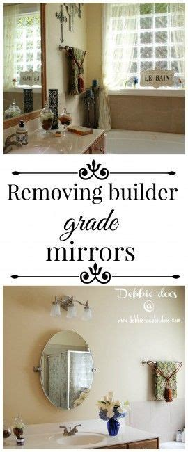 how to remove a bathroom mirror removing builder grade bathroom mirrors mirror hooks