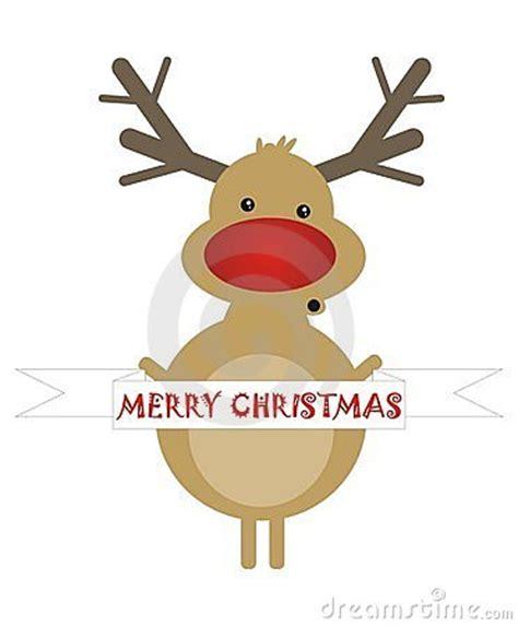 merry christmas cute reindeer stock  image