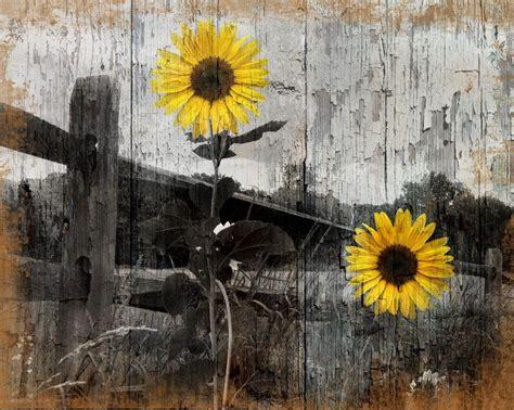 sunflower home decor rustic sunflower country farmhouse home decor wall art