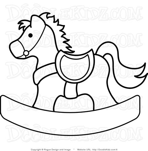 coloring pages of rocking horses clip art illustration of a rocking horse coloring page