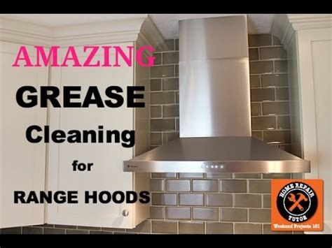 how to clean a greasy range and filter amazing