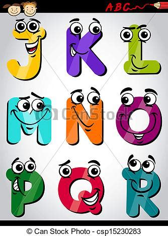 lettere simpatiche vector of letters alphabet illustration