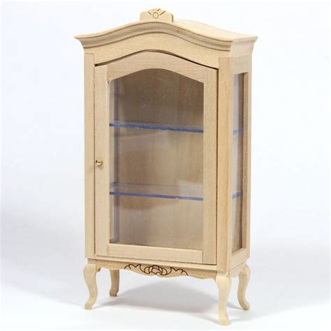 Dolls House Plain Wood Display Cabinet Bef115