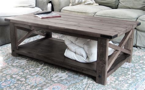 diy rustic coffee table ideas white rustic x coffee table diy projects