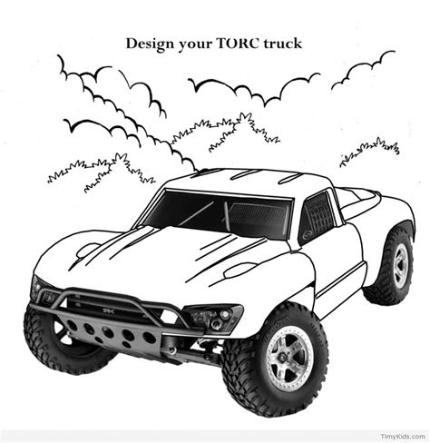rc truck coloring page 30 car coloring pages timykids