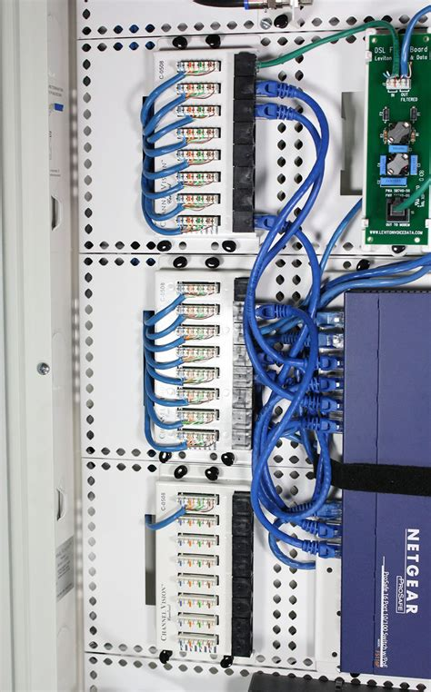 cat6 home network design home network panel cat5 punchdown the construction academy