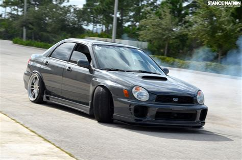 bugeye subaru stock rwd fitted subaru wrx stancenation form gt function