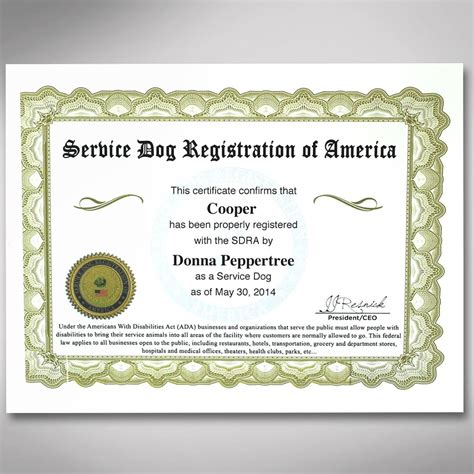 service certification professional service certification kit service registration of america