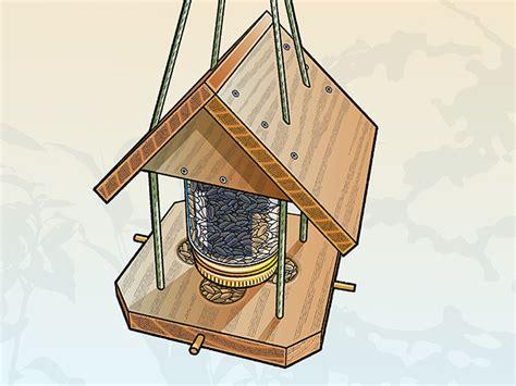 build  bird feeder    mason jar boys life