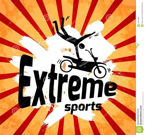 extreme sports poster stock vector image 41976908