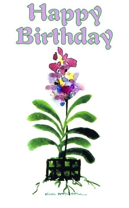 orchids and watercolor 95th birthday 17 best images about birthday cards on watercolors birthday wishes and flowers