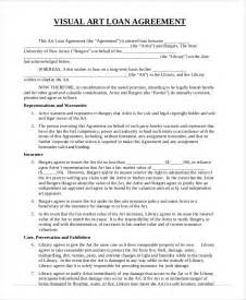 Art Loan Agreement Template loan agreement template 11 free sample example format