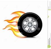 Chamas Da Roda/pneu E Do Fogo Isoladas No Branco Foto De