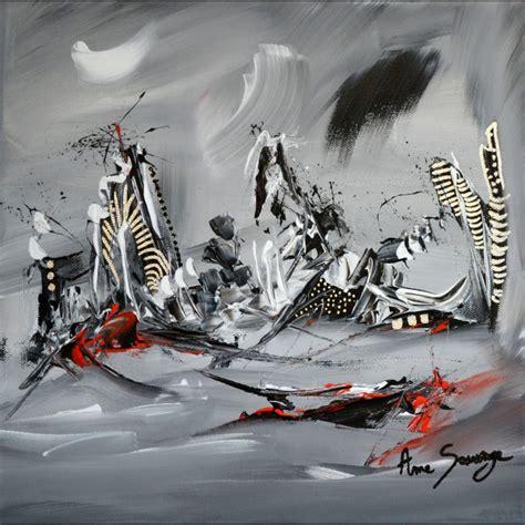 Tableau Gris Et Blanc by Tableau Abstrait Moderne Gris Noir Blanc Argent Vestiges