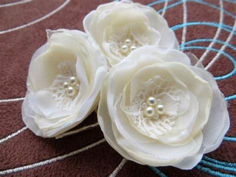 Bridal Flower Hair Clip Set ivory wedding bridal flower hair set of 3