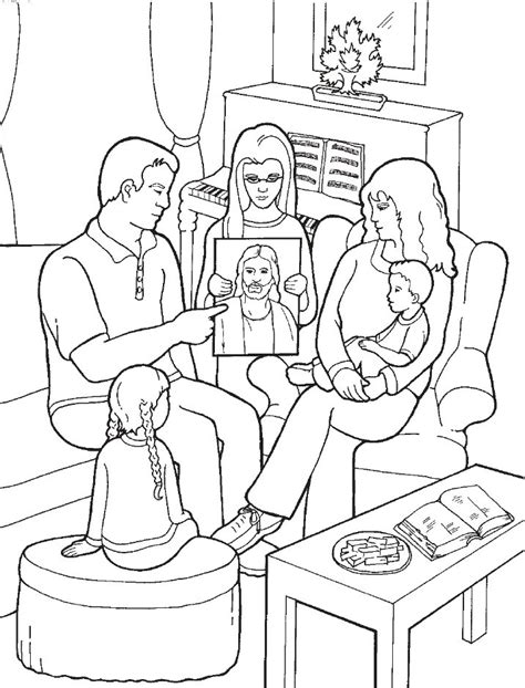 Lds Games Color Time Family Home Evening Church Lds Coloring Pages Family