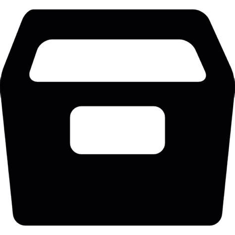 schublade icon schublade schwarze form der kostenlosen icons
