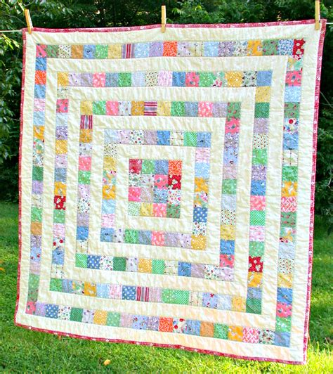 Square Patchwork Quilt Pattern - patchwork quilt baby toddler growing squares