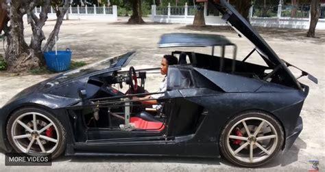 Mini Lamborghini by Farmer Builds Motorcycle Powered Mini Lamborghini