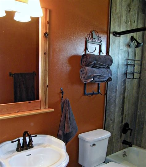 cowboy themed bathroom western themed hall bathroom rustic bathroom