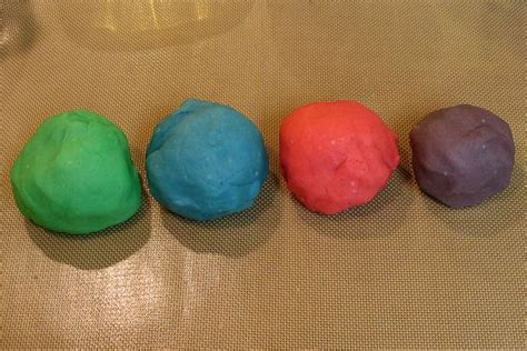 Handmade Playdough - the word playdoh