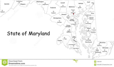 maryland map counties vector maryland map stock vector image of geography america