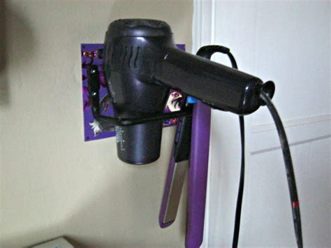Hair Dryer And Straightener Caddy diy hair appliance holder lynda makara