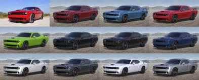 Dodge Challenger Colors 2016 Dodge Challenger Srt Hellcat