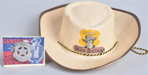 matt dillon hat matt dillon gun smoke hat badge