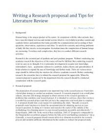 Essay And Letters As Literary Forms by Research Tips For Writing Literature Review