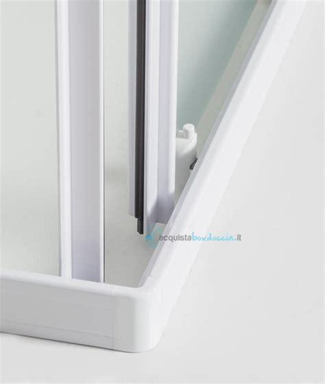 piatto doccia 100 x 60 box doccia angolare porta scorrevole 60x100 cm opaco bianco