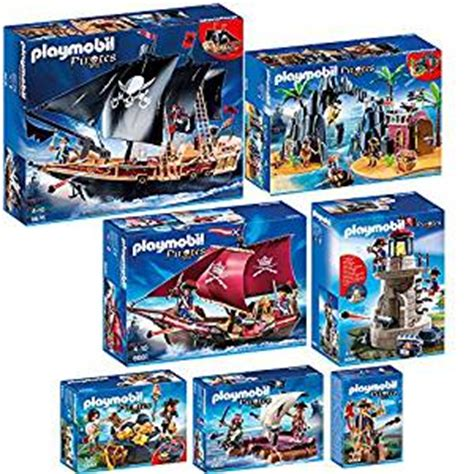 Figure Model Kit Playmobil Pirate Treasure Hideout playmobil 7 part set 6678 6679 6680 6681 6682 6683 6684 pirate battleship pirate